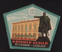 Rare Hotel label luggage labels Hungary   #335